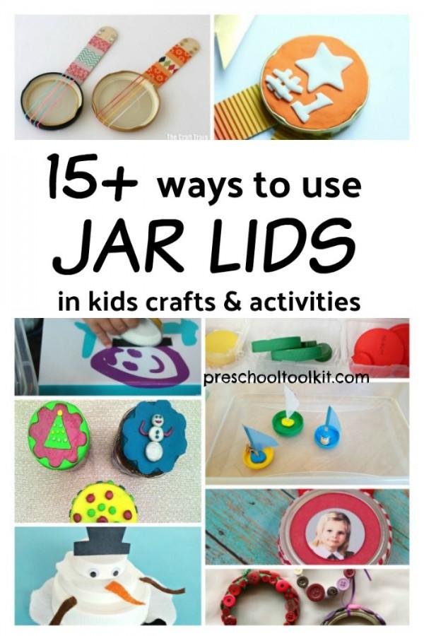 15 Ways To Recycle Jar Lids In Kids Activities Preschool Toolkit