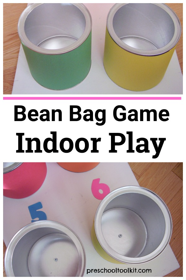 Bean bag game indoor play for toddlers and preschoolers