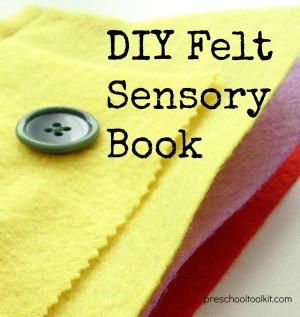 Homemade felt busy book