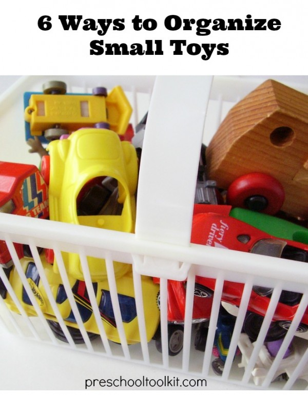 How to organize small toys