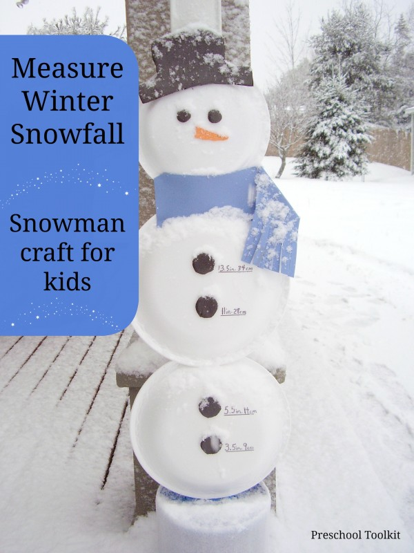 Measure snowfall with snowman craft
