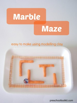 Marble maze kids craft
