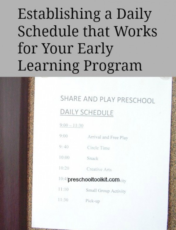 Tips for establishing a daily schedule for your early learning program