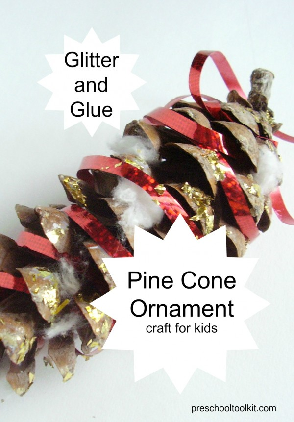 Christmas ornament made with pine cones