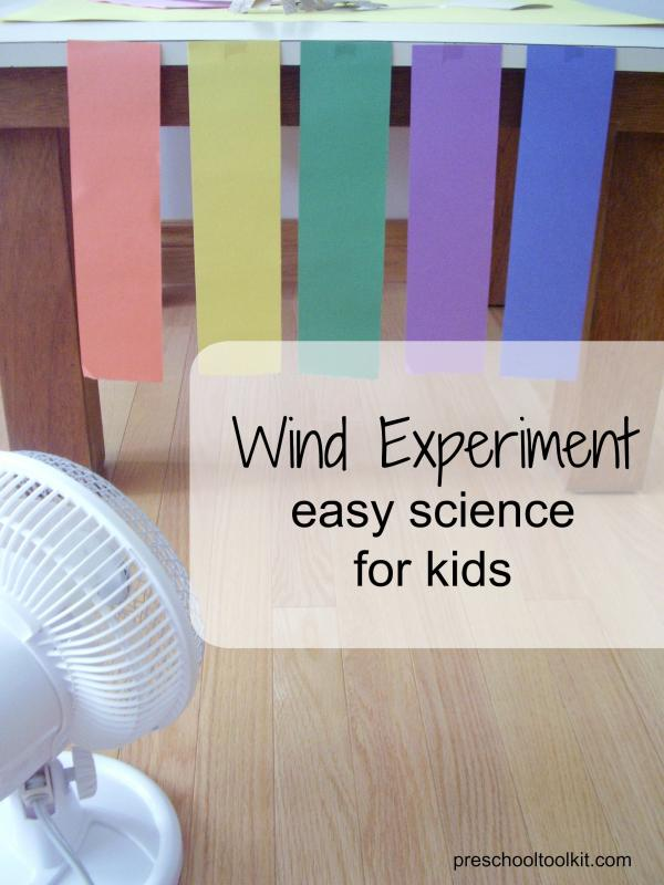 Wind science experiment for kids