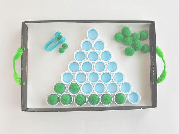 Kids can design and build with recycled bottle caps
