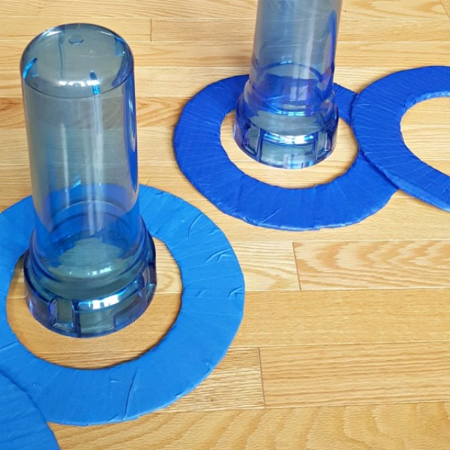 Easy to make cardboard rings for family game of toss