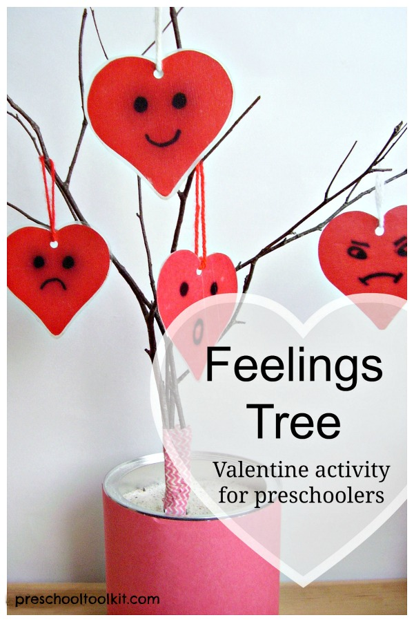 Feelings tree activity to explore emotions with preschoolers