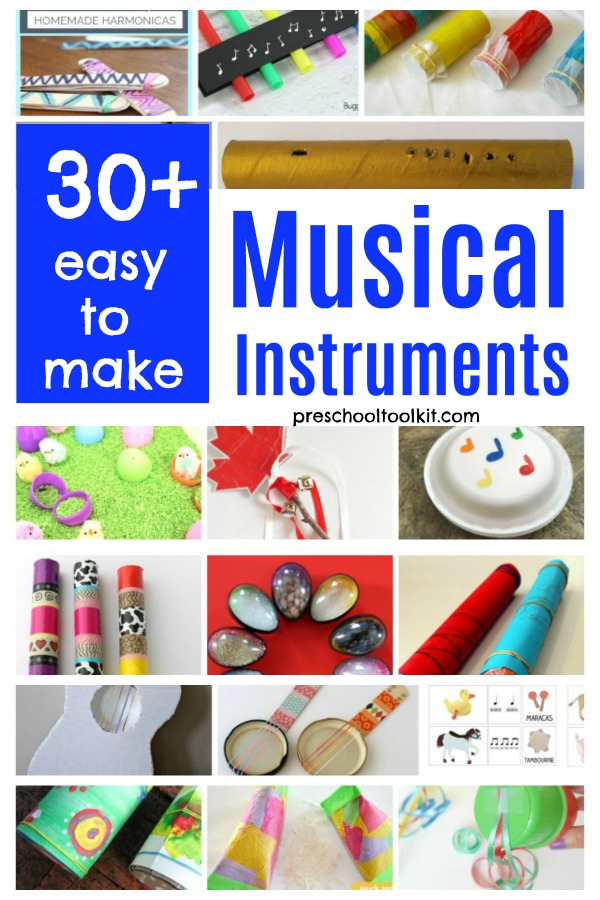 Homemade musical instruments easy to make for kids activities