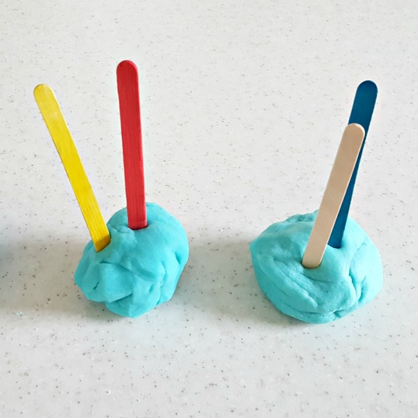 Homemade play dough for hands on preschool and toddler fine motor sensory play