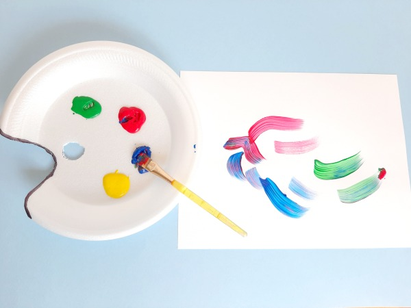 Make your own palette for preschool art activities