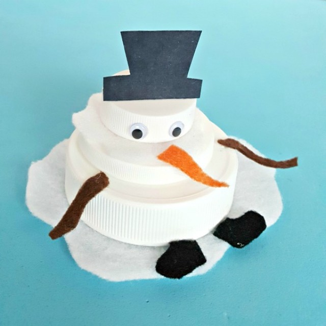 Melting snowman winter craft for kids