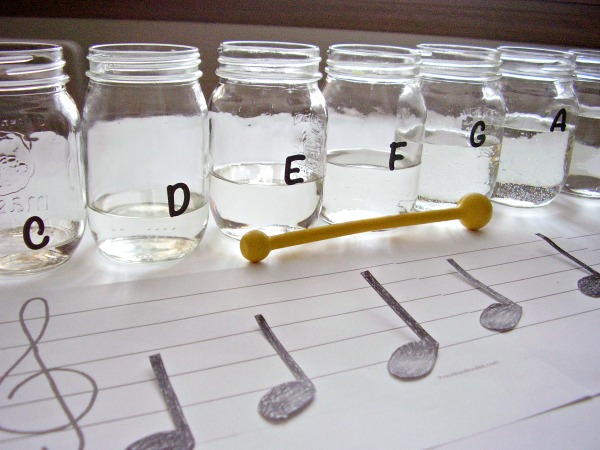 Musical scale fine motor and listening activity for preschoolers