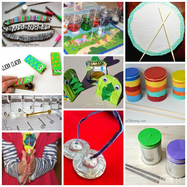 Percussion instruments to make at home or school
