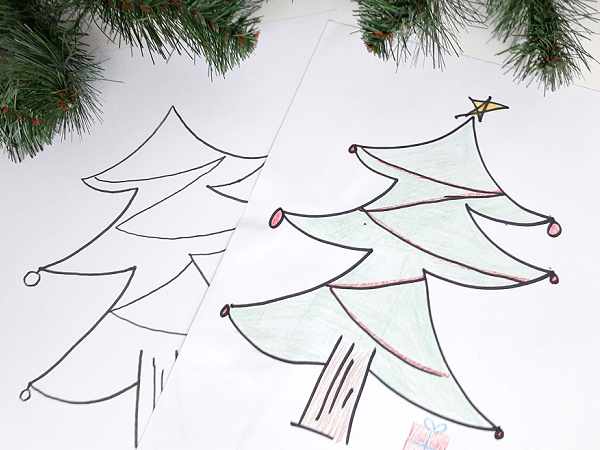 Christmas coloring sheets for toddler to kindergarten