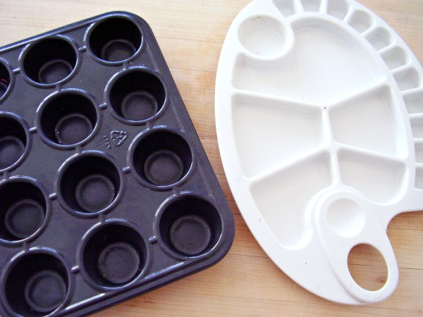 Recycle a mini muffin tin for kids craft projects
