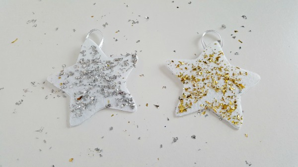 Silver and gold stars ornament craft for kids