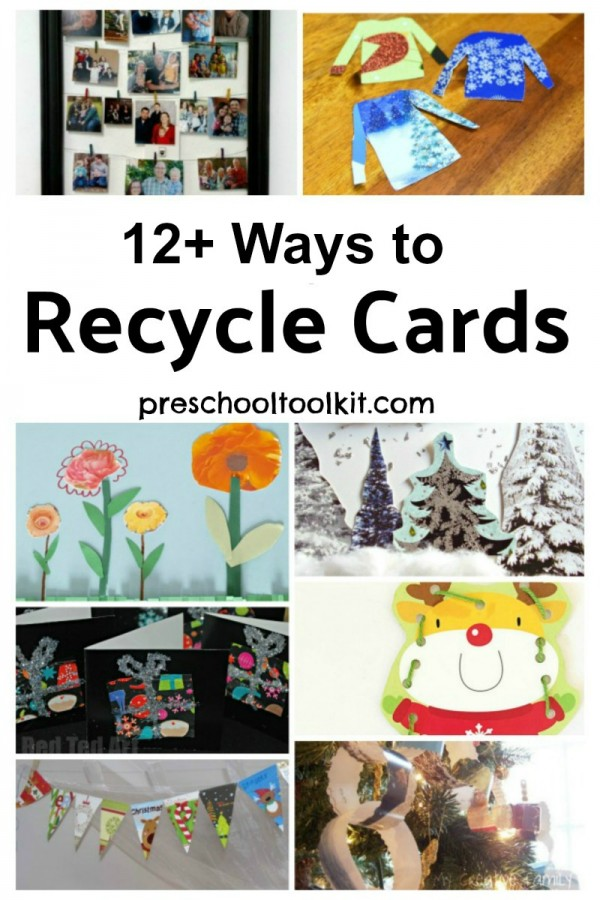 12 Ways to Recycle Cards for craft and activities with the whole family