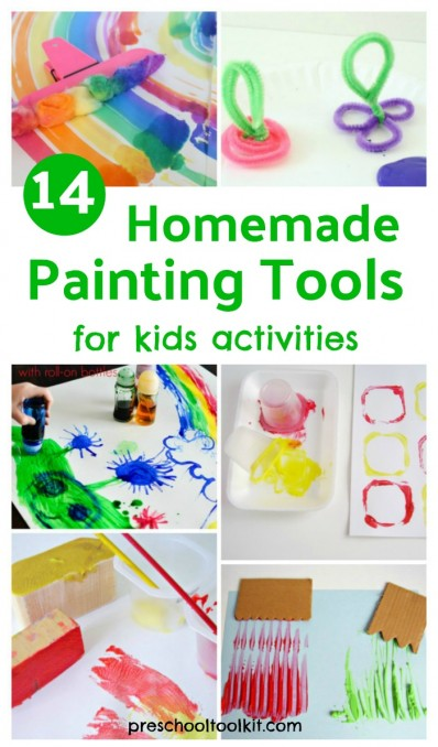 14 homemade painting tools for kids painting activities