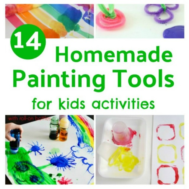 14 Painting tools you can easily make for kids painting activities