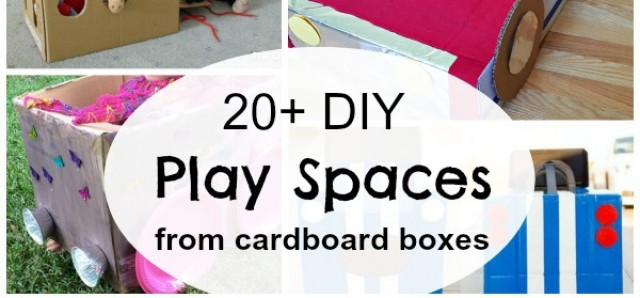 20 cardboard box kid size props for pretend play