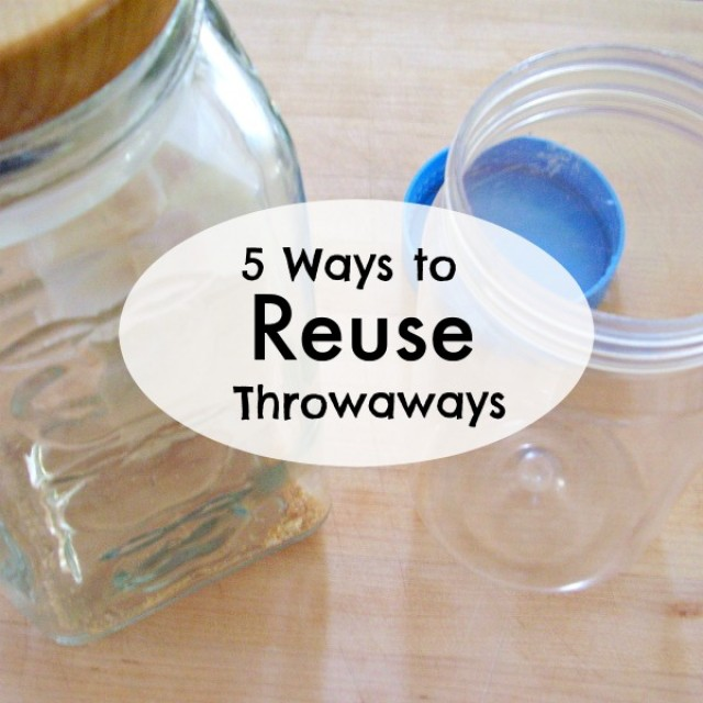 5 ways to reuse throwaways for everyday activities