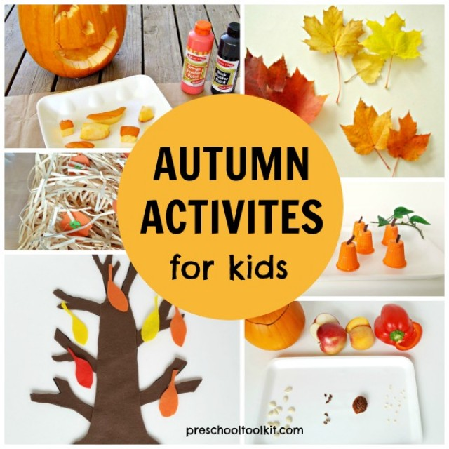 Autumn crafts and activities for preschoolers
