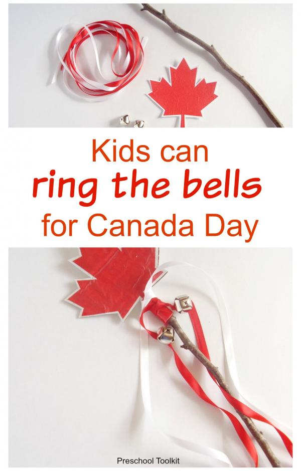 Bells craft for Canada Day