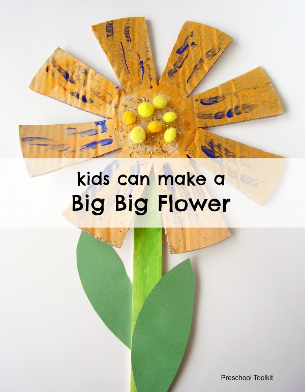 Big big flower craft for kids