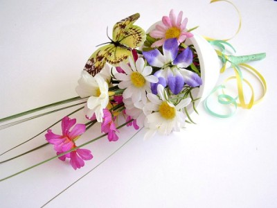 Bouquet craft for kids