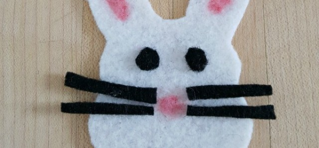 Bunny fridge magnet craft for kids