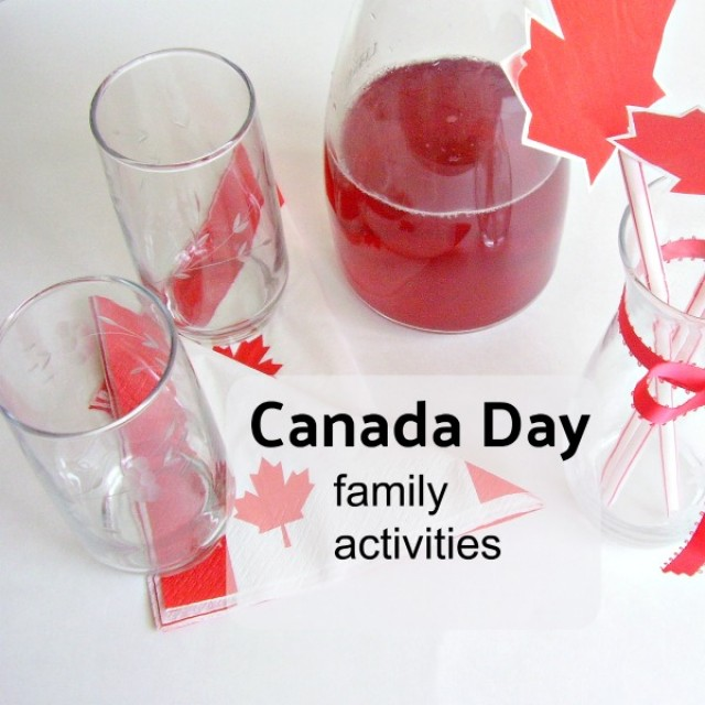 Canada Day list of family activities