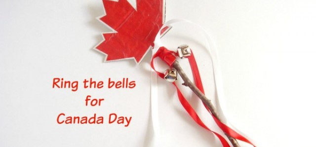 Canada Day festive maple leaf noisemaker