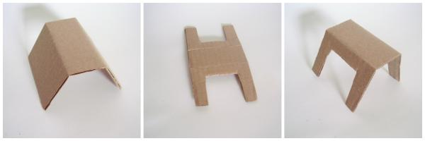 Cardboard animals easy to make for small world play