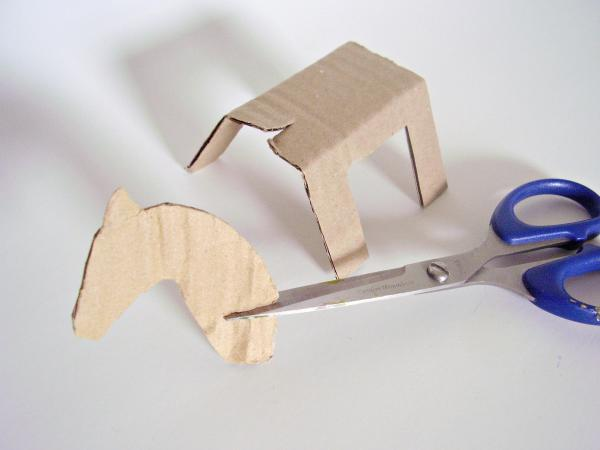 Cardboard animals kids craft for pretend play