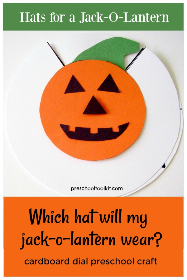 Preschool cardboard dial craft for Halloween