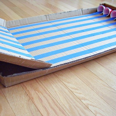 Cardboard inclined plane craft