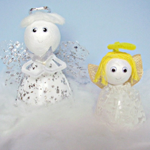 Christmas craft making beautiful angels to sing in a choir