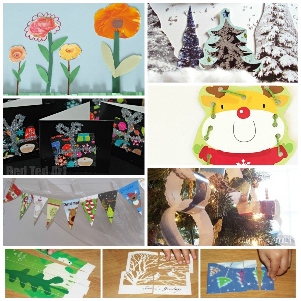 kids crafts using recycled cards