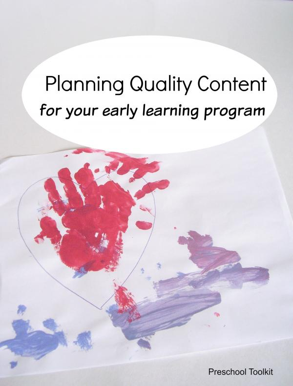 Tips for planning quality content for your early learning program