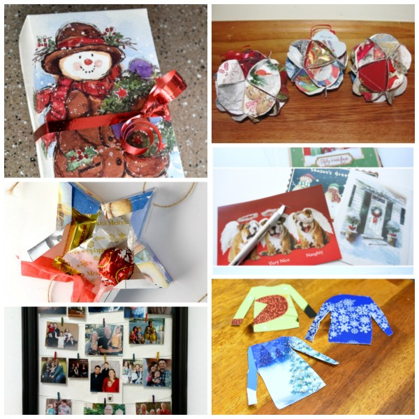 DIY activities using recycled greeting cards