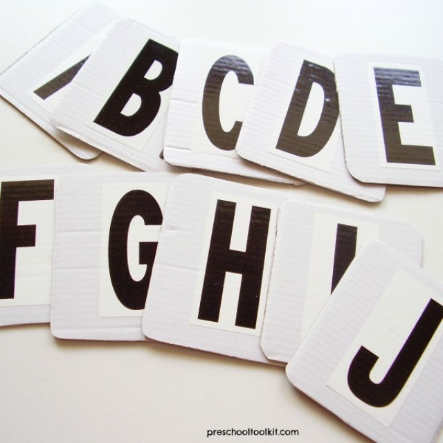 DIY letters of the alphabet cards for literacy activities
