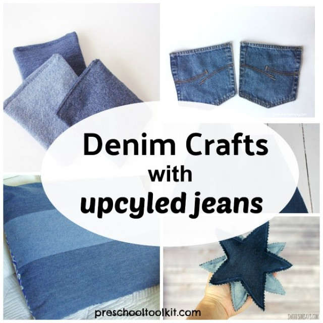 Denim crafts with upcycled jeans