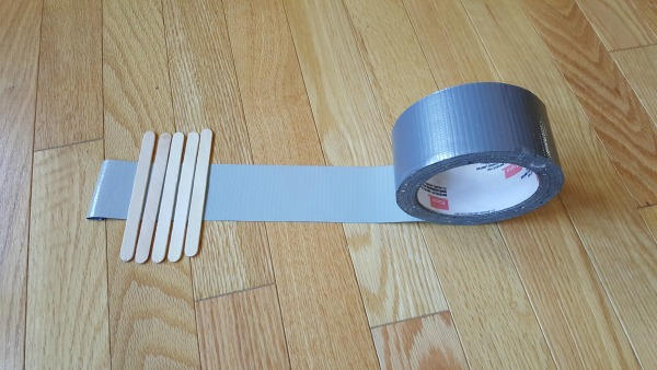 Instructions For Making A Duct Tape Bridge Toy Cars