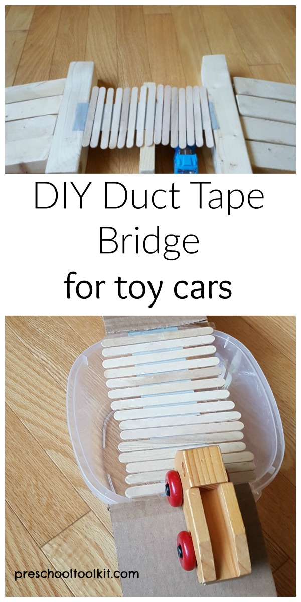 Kids Can Make A Duct Tape Bridge For Toy Cars