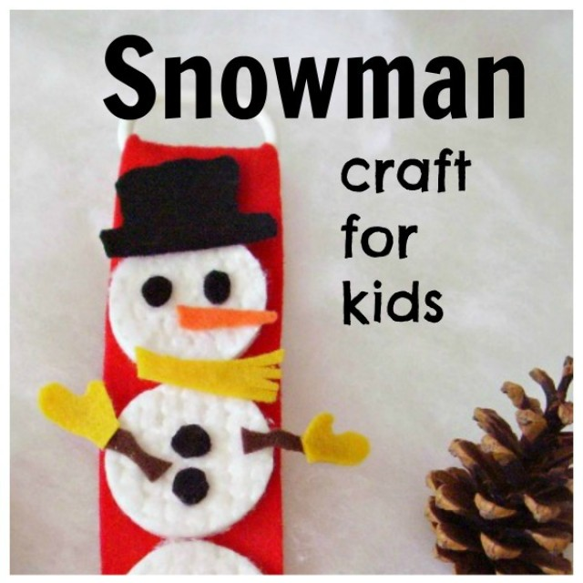 Easy felt snowman preschool craft