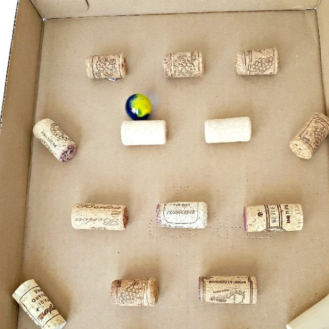 Easy to make marble maze with corks