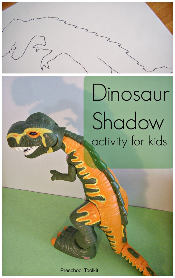 Dinosaur shadow characters art activity