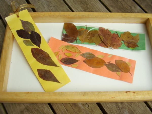 Fall leaves bookmarks craft for kids