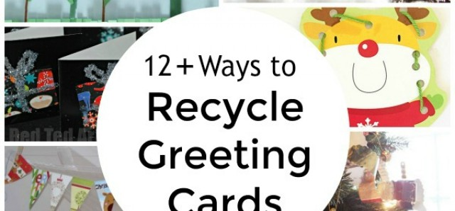 Family crafts and activities with recycled greeting cards